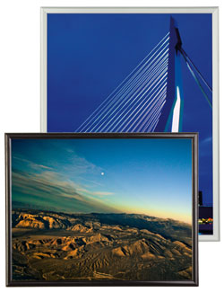 huge selection of poster frame sizes to