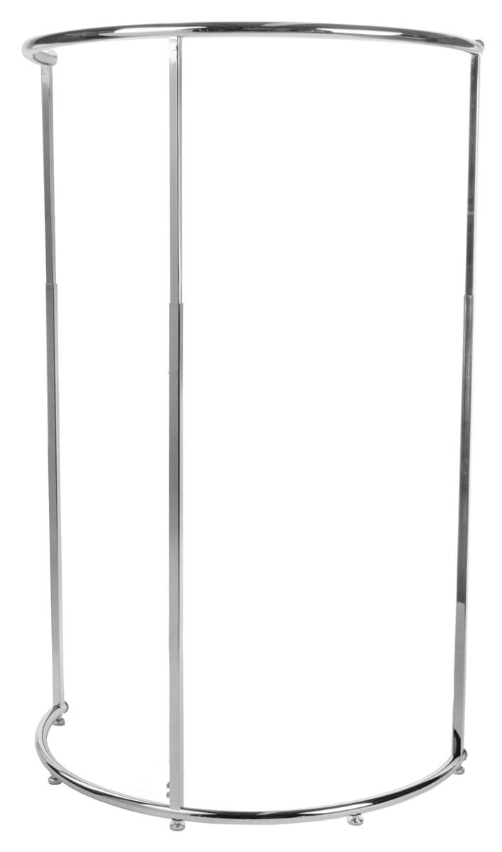 half round clothing rack with 42 hang rail chrome