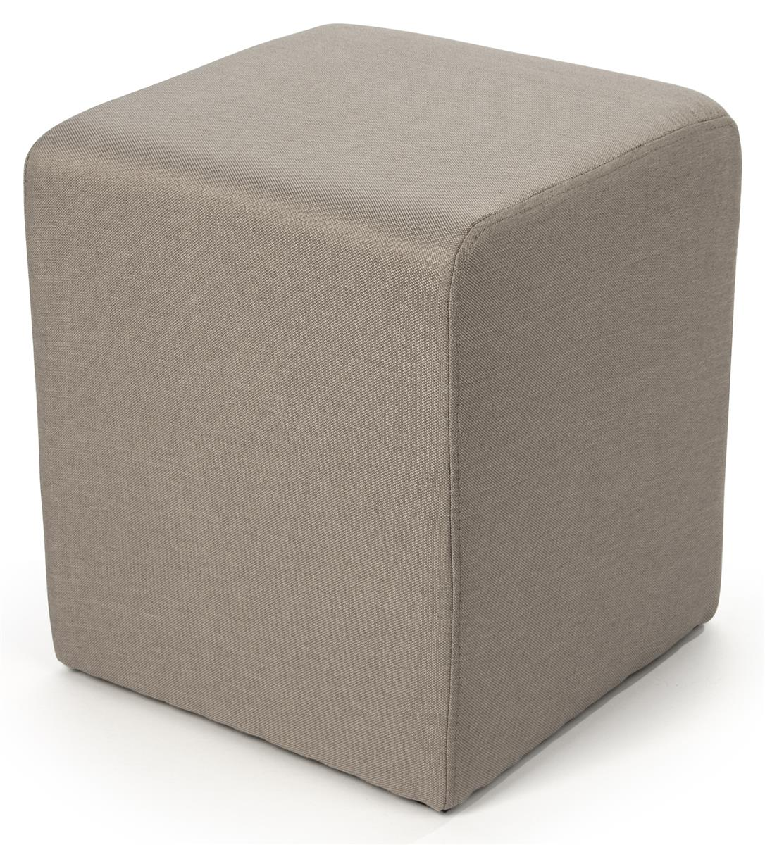 15 square upholstered ottoman stool tan