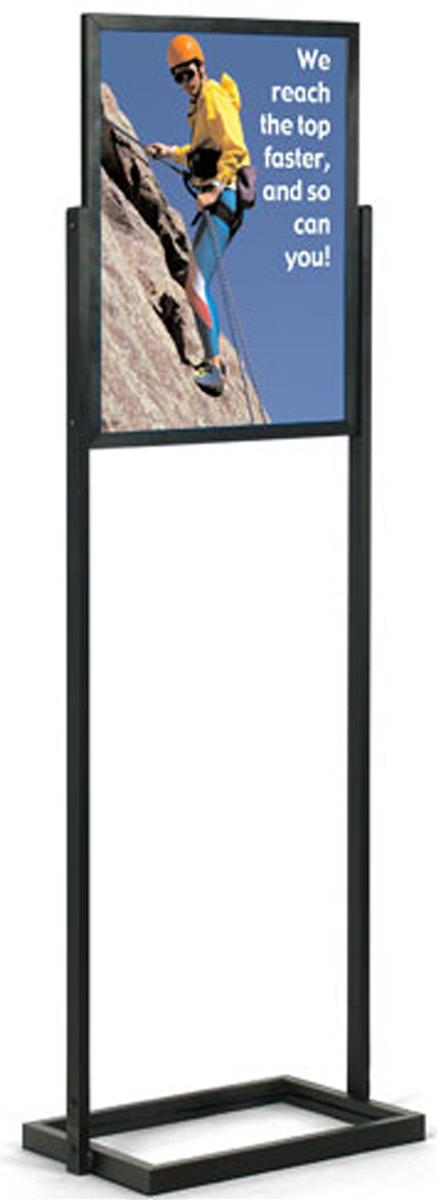 18 x 24 poster stand for floor top insert double sided black
