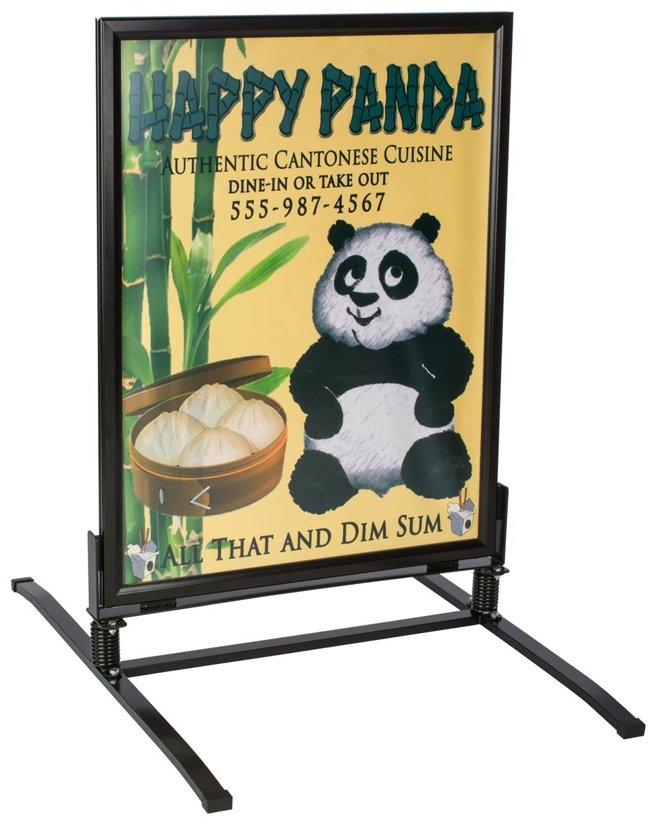 30 x 40 sidewalk sign for posters snap frame 2 sided outdoor black