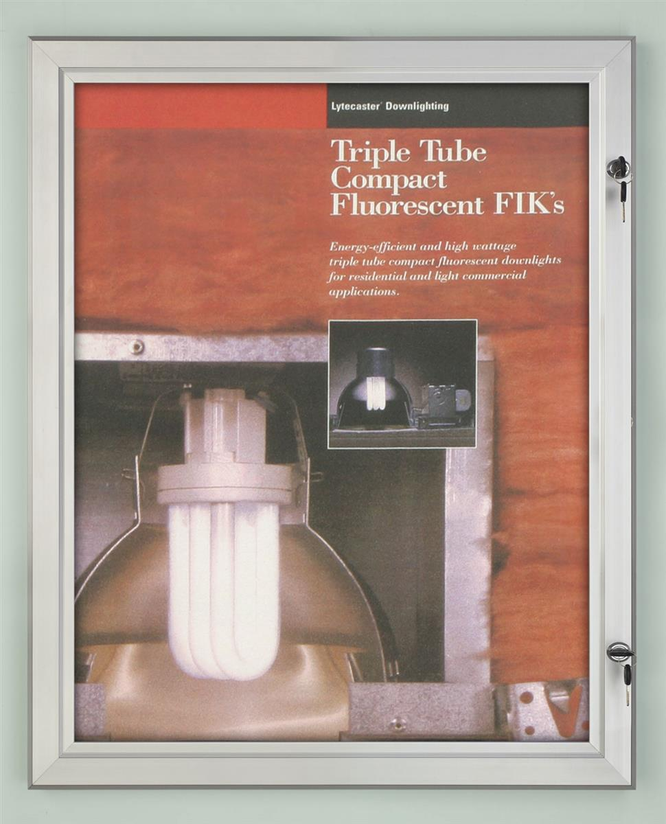 22 x 28 outdoor poster frame for wall swing door with gasket silver