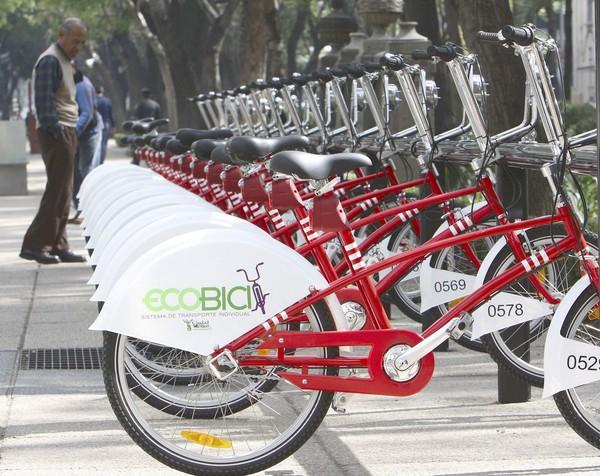 Las bicicletas se establecen en la ciudad de México