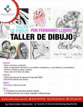 El Centro Cultural Pedro López Elías brinda taller virtual de dibujo con Fernando Llanos
