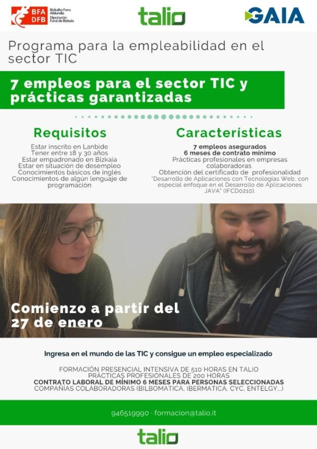 Talio oferta 7 oportunidades laborales en el sector IT