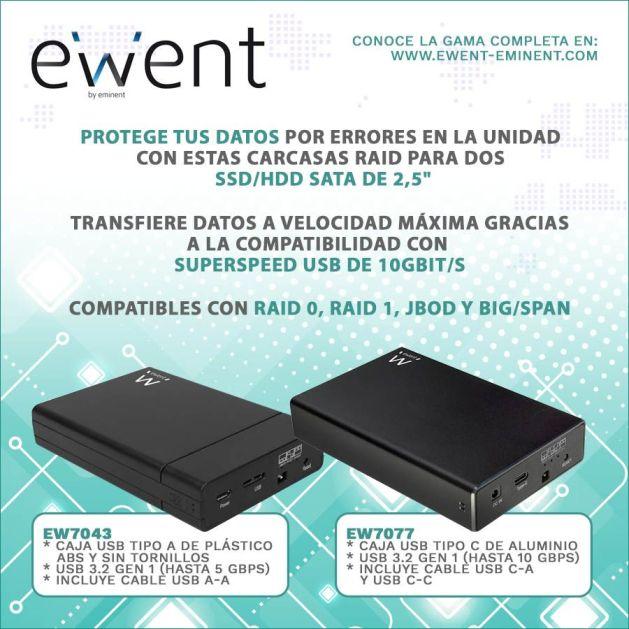 Ewent recomienda usar una carcasa de HDD/SSD para proteger los datos en cualquier ordenador