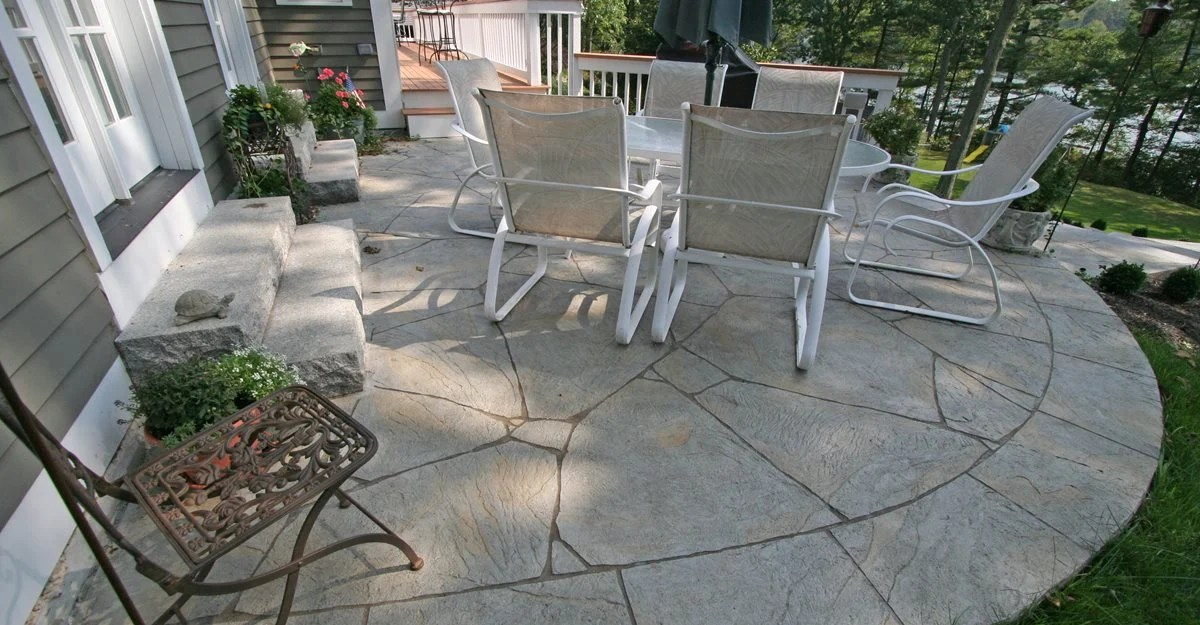 Colored Stamped Concrete Patios Gallery