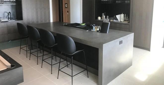 diy polished concrete benchtop