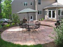 concrete patio layout ideas plans