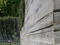 board formed concrete add wood