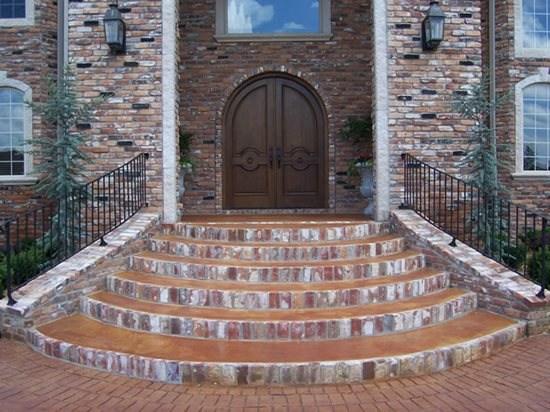 Front Steps Design Ideas Home Design Ideas   Back Door Step Designs   Stone Veneer   Step Down   Paver   Brick   Block Paving Step