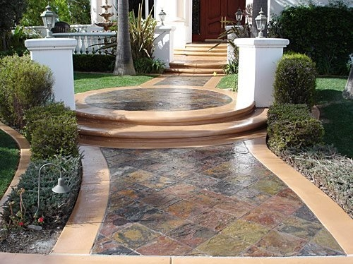 Concrete Steps Outdoor Stair Design Height The Concrete Network | Front Yard Stairs Design | Entry | Uphill | Step | Residential | Main Door Stair