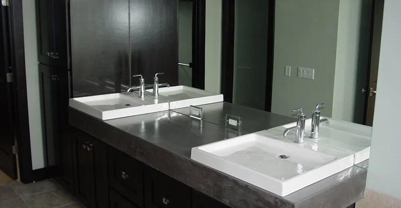 bathroom vanity concrete designs for