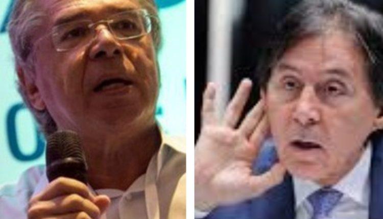 """Eunício. Paulo Guedes falou, Eunício ouviu: """"Prensa ninguém vai dar em mim"""", reagiu o senador"""