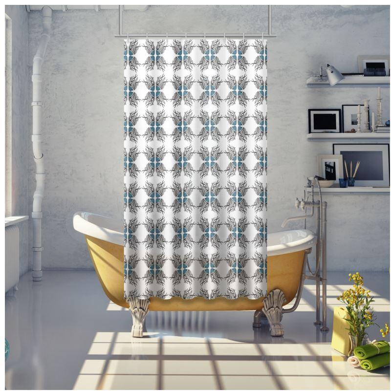 jellyfish print shower curtains