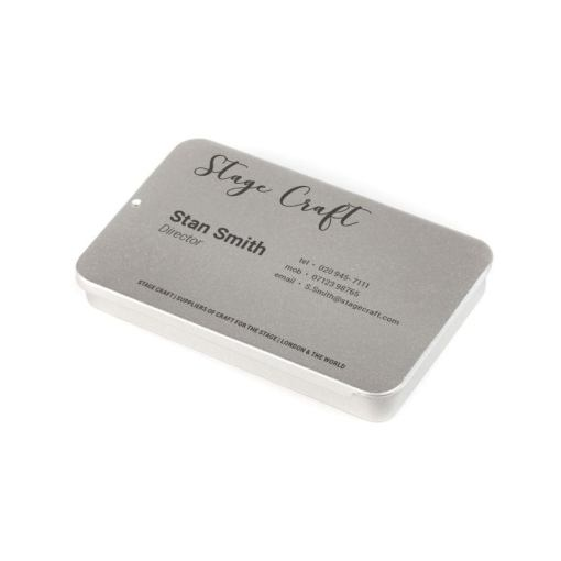 Personalised Business Card Holder  Small Tins for Cards     Text design custom business card holder