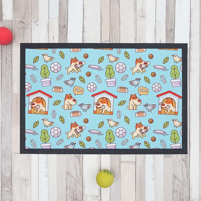 tapis pour gamelle chien et chat personnalisable