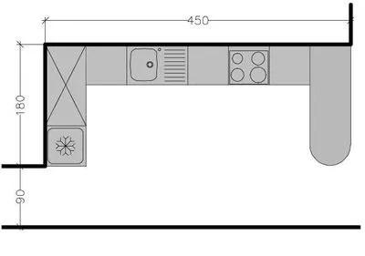 plan de cuisine en l 8 exemples pour