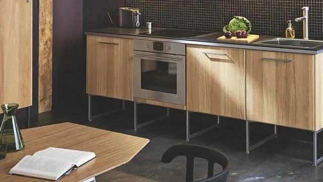 cuisine moderne en bois meubles plan
