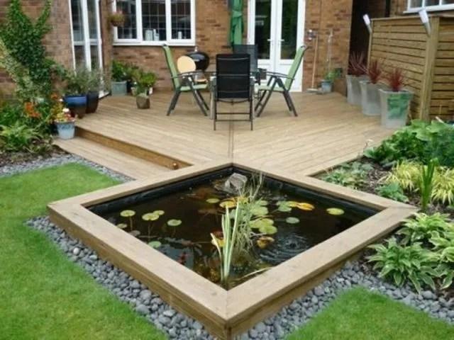 bassin de jardin cote maison