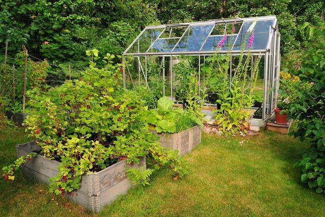 fabriquer une serre de jardin cote maison