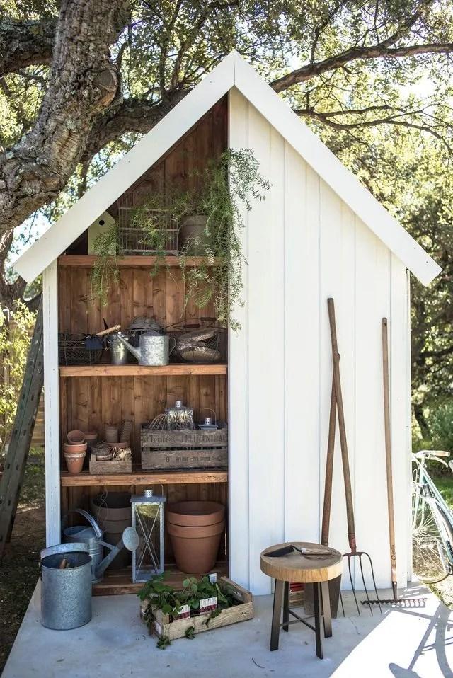 abri de jardin bois pvc toit plat