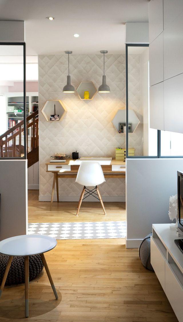 Bureau Dco Chez Moi Scandinave Industriel Ct Maison