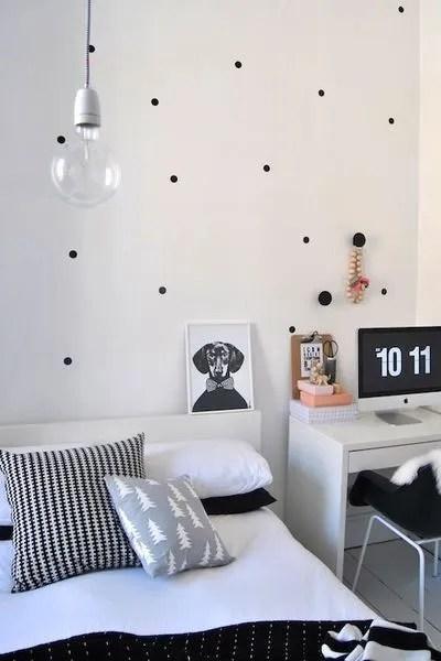 relooking deco chambre en noir et blanc