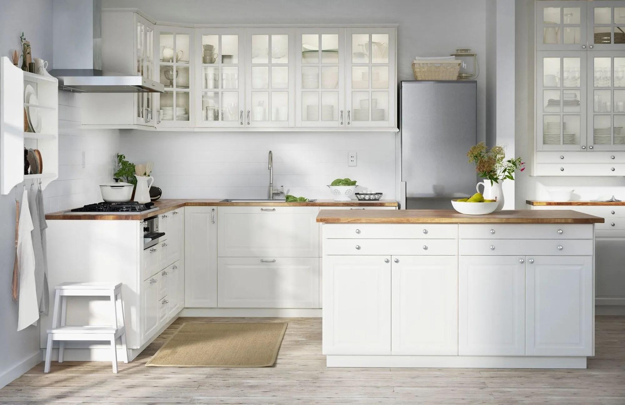 Makeover kitchen cabinets ideas. boring birch ikea chest of ...