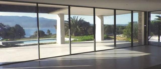 fenetre xxl mur de verre baie vitree