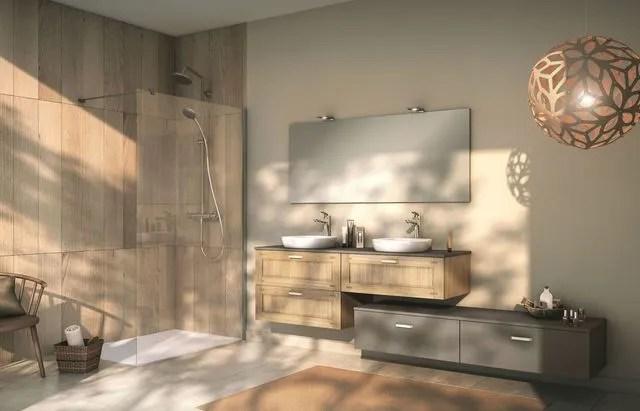 salle de bains bois des photos d