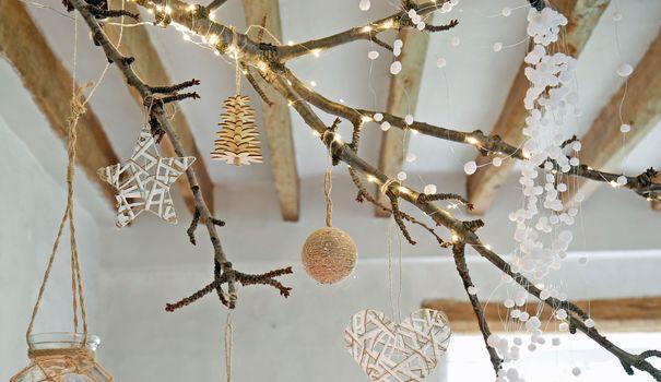 Deco Noel Avec Des Branches De Bois Inspiration Photos
