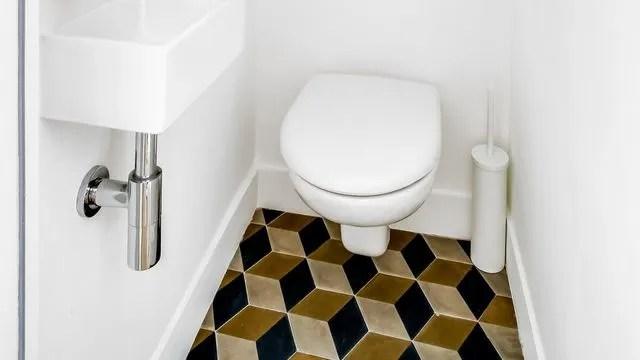 deco wc du carrelage pour des