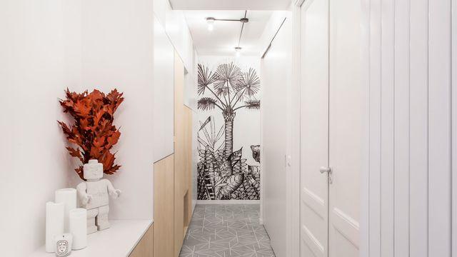 couloir peinture couleur rangements