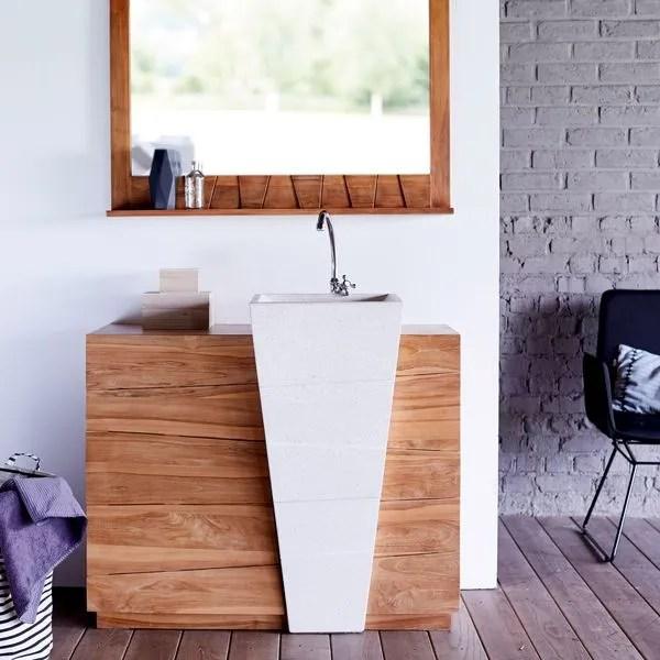 meuble salle de bain bois cote maison