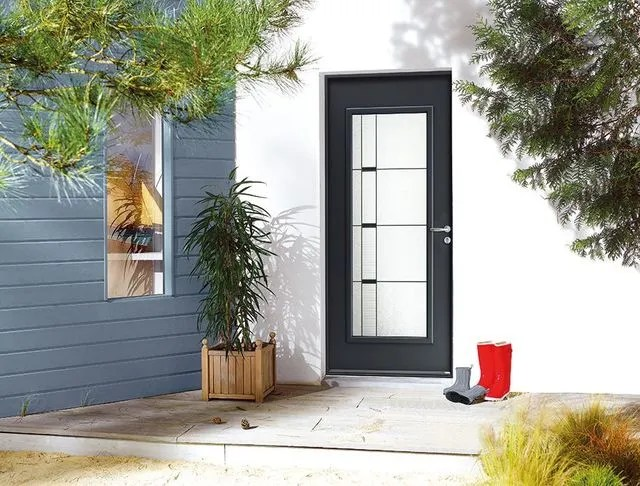 porte d entree vitree cote maison