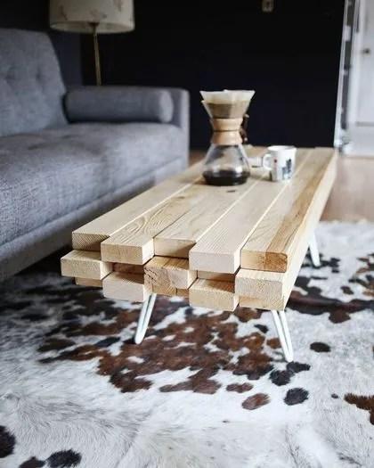 diy table deco table en bois idees a