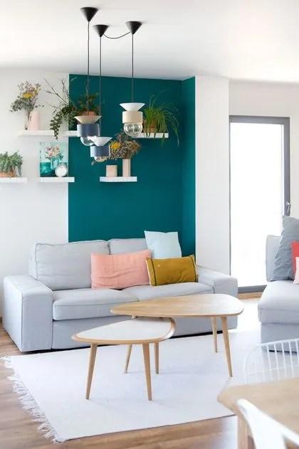 Salon Bleu Canard Idees Peinture Et Deco Bleu Canard A Copier Cote Maison