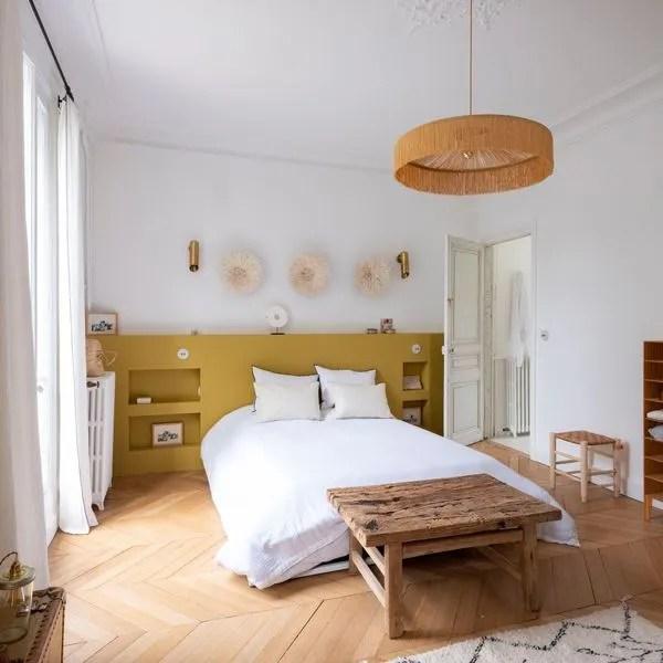 tete de lit peinture cote maison