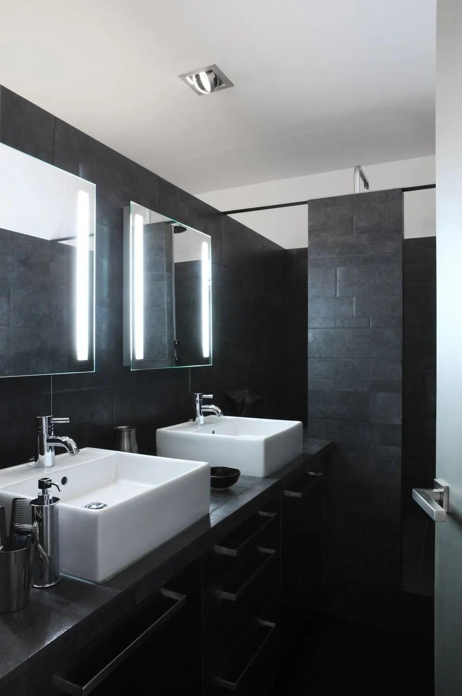 Photo De Salle De Bain Noir Et Blanc salle de bain noire blanche et bois - novocom.top