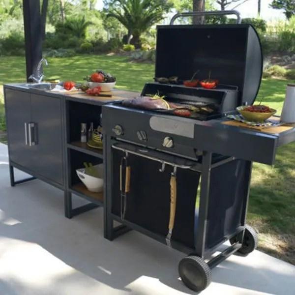 cuisine exterieur barbecue plancha