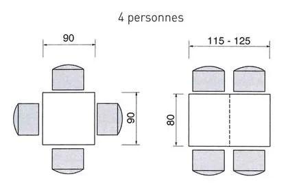 agrandir une table carree et rectangulaire pour 4 personnes