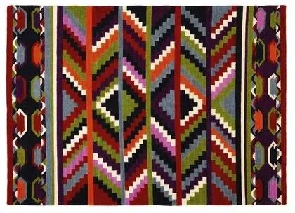tapis couleurs vives chaudes cote