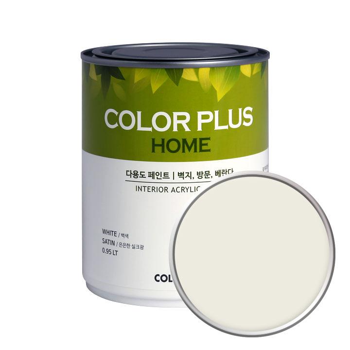 노루페인트 컬러플러스 홈 페인트 1L, 크리미화이트