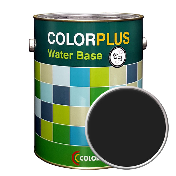노루페인트 컬러플러스 페인트 4L, 팬텀블랙