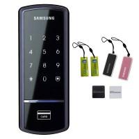 삼성SDS 스마트 디지털 보조키형 도어록 SHS-1321 + 카드키 2p + 걸이형 카드키 2p (TOP 68146517)