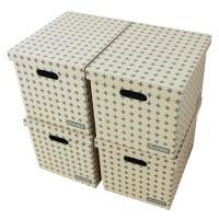 올리빙 크로스 트렁크 대형 5겹 종이정리함, 그레이, 4개 (TOP 117319730)