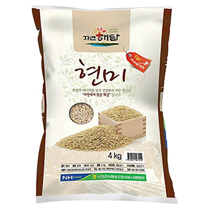 농협 19년산 자연해답 현미, 4kg, 1개
