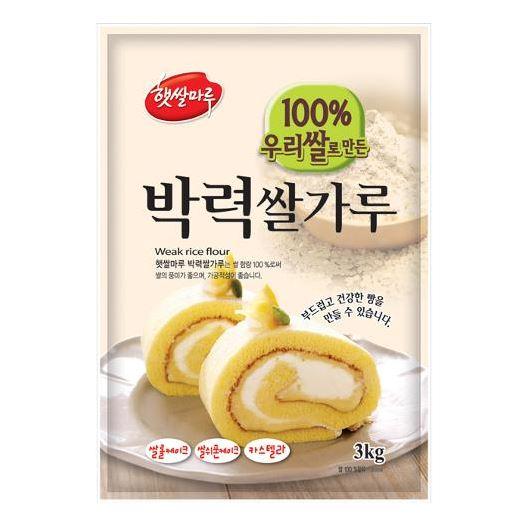 국내산 햇쌀마루 박력 쌀가루 베이킹 3kg 1개 KOR2CCEA3, 1