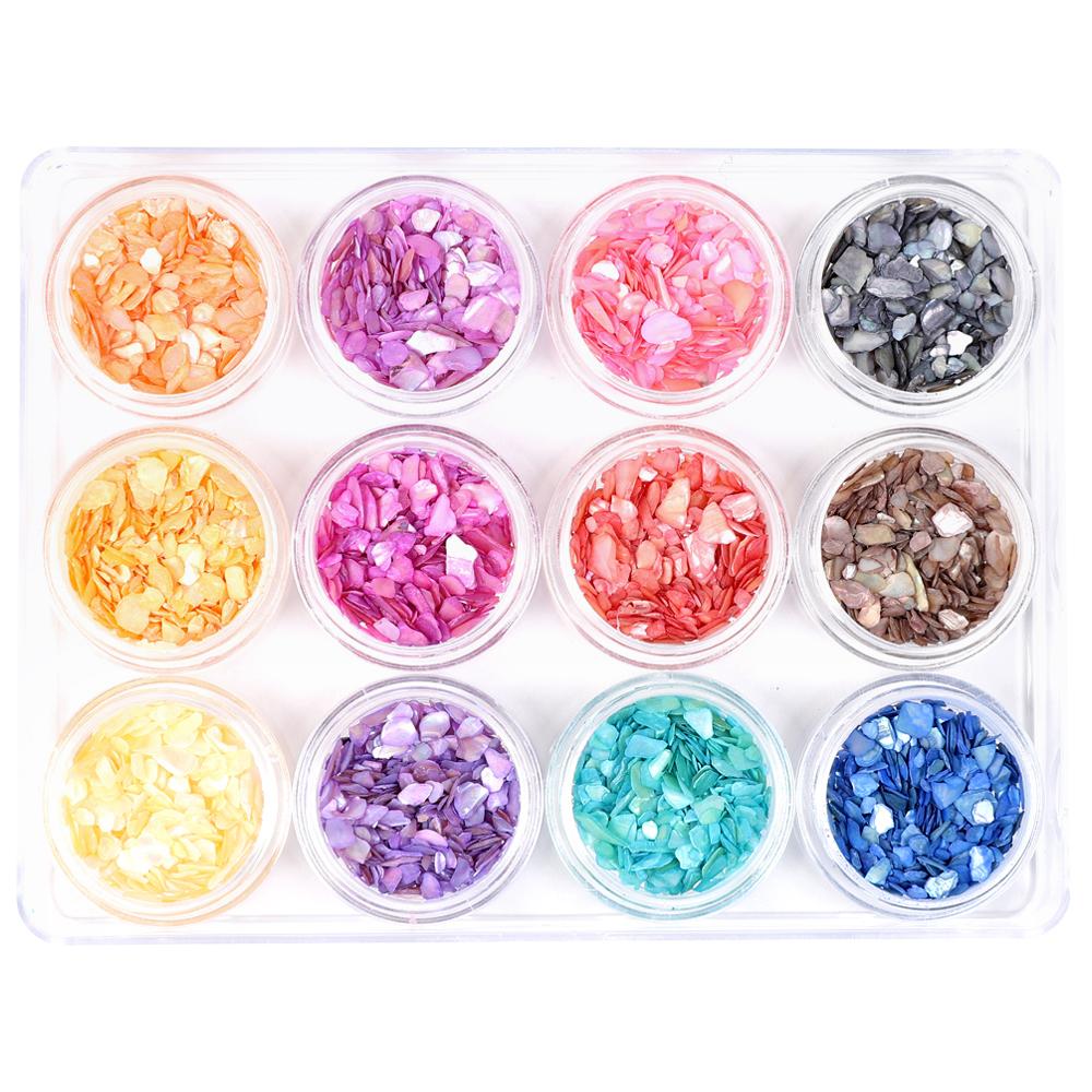 메이브라운 물방울 네일 자개글리터 12종 M10096, 혼합 색상, 1세트